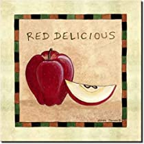Red Delicious Apple by Donna Jensen - Fruit Ceramic Accent Tile 8