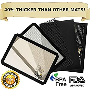 Best Bakeware Set 4 Piece Non-stick Silicone Set of 2 Baking Mats, 1 Oven Liner and 1 Crisping Sheet