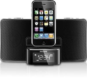 Philips DC220 iPod/iPhone Soundsytem (UKW-/MW-Tuner, USB 2.0) schwarz