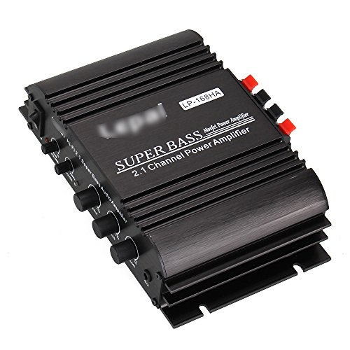 WEONE nero LP-168HA audio stereo 2.1 canali Amplificatore + 1x68W Sub uscita Super Bass 2x50W