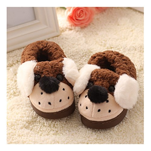 Hoxekle Winter Non-slip Toddler Boys Girls Doggy Puppy Warm Slippers for Baby (Spongebob House Shoes compare prices)
