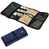 Portable Wrap Universal Electronics Accessories Travel Organiser / Hard Drive Bag / Cable Stable