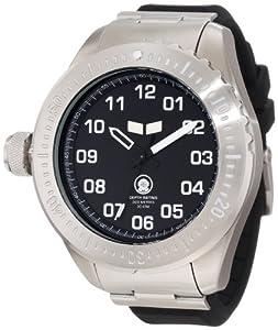 Vestal Men's ZR4002 ZR-4 Diver Silver Black Lume Dial Watch
