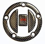 Suzuki GSX R GSXR 600 750 1000 Real 3k Carbon Fiber Fuel Tank Cap Filler Cover Pad