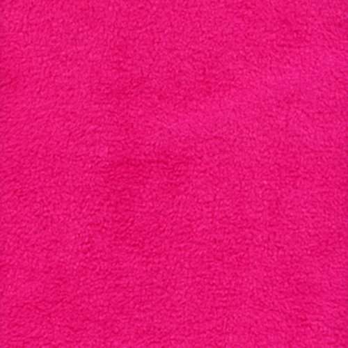 """Fuschia Anti Pill Solid Fleece Fabric, 60"""" Inches Wide - Sold By The Yard"""
