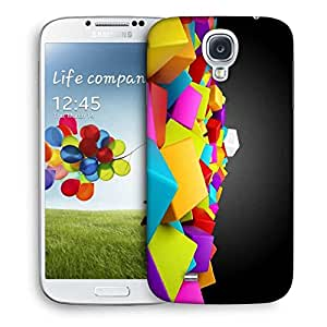 Snoogg Abstract White Cube Printed Protective Phone Back Case Cover For Samsung S4 / S IIII