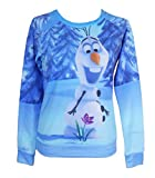 Disney Frozen Olaf Flower Ladies French Terry Pullover Sizes (S-XL)