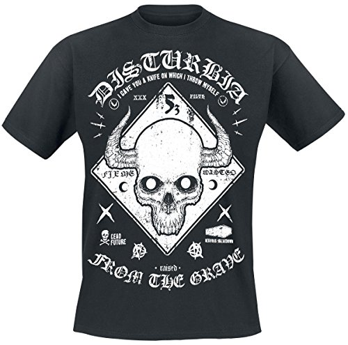 Disturbia Warning T-Shirt nero S