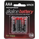 Monoprice AAA Alkaline Battery, 8-Pack (110365)