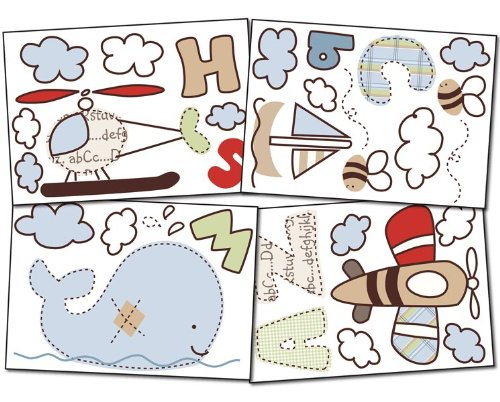 Living Textiles Baby Wall Decal Set - Casey'S Abcs front-147314