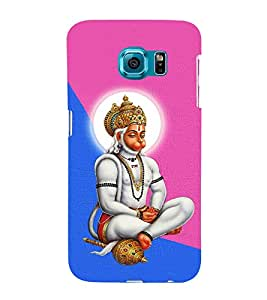 Monojavaya Hanuman 3D Hard Polycarbonate Designer Back Case Cover for Samsung Galaxy S6 Edge :: Samsung Galaxy Edge G925