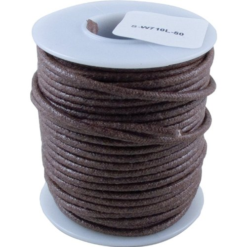 Wire - 20 Awg Solid Core, 50', Lacquered Cloth Cover, Brown, 600 Volt