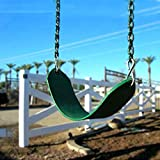 AGPtek® Kids Toy Outdoor Green Polymer Flexible Rubber Swing Belt Seat Slide Seat in Playground or Backyard, Maximum afford 330 LB