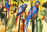 (13x19) August Macke With the Parrots I Art Print Poster