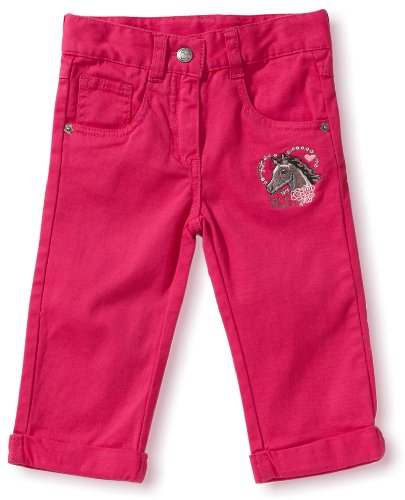 Salt & Pepper - Jeans capri, bambina, Rosso (Pink (magenta )), 104 cm