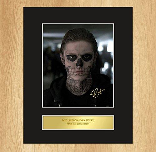 Tate Langdon - Evan Peters - foto incorniciata e firmata, American Horror Story