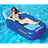 Solstice 15181SF Blue Vinyl Swimming Pool Inflatable Cooler Couch Lounger
