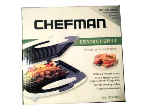 Chefman Compact Non Stick Contact Grill