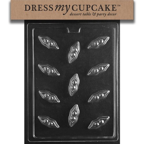 Dress My Cupcake Dmcf115 Chocolate Candy Mold, Peas In A Pod front-501461