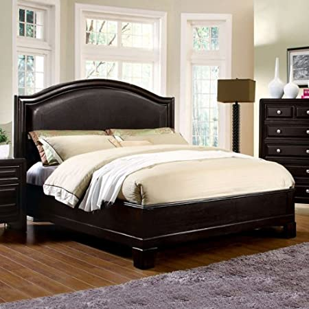 Eastern King Size Winsor Espresso Finish Bed Frame Set