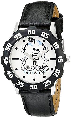 Disney Kids' W000455 Tween Vampire Teddy Stainless Steel Black Bezel Black Leather Strap Watch