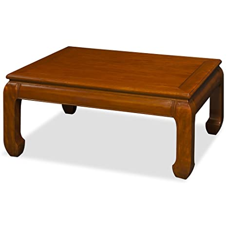 Hand Crafted Ming Style Rosewood Coffee Table, 40in x 30in - Natural