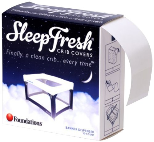 Foundations Worldwide SleepFresh Crib Ribbons, White - 1