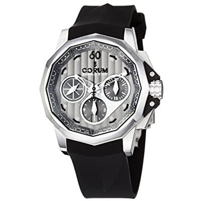 Corum Men's 75377120/F371AK Admiral Cup Black Rubber Strap Grey Dial Watch