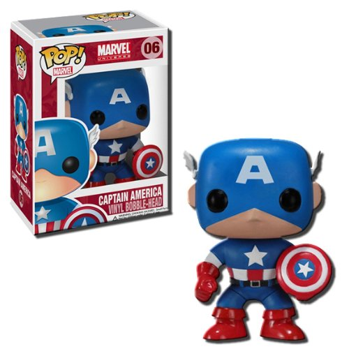 Sale alerts for Funko Plushies Funko POP! Marvel 4 Inch Vinyl Figure Captain America - Covvet
