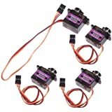 4pcs MG90S Gear Micro Servo for RC Helicopter Plane Boat Car + Horns