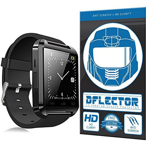 DFlectorshield Premium Scratch Resistant Screen Protector for the Soyan U8 UWatch Gear SmartWatch