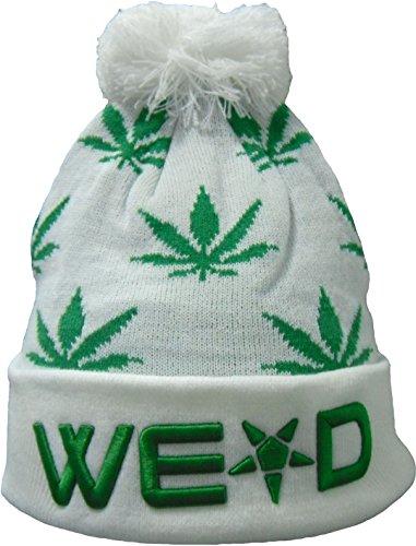 YCMI-Winter-Warm-Mickey-Hands-Letter-Kush-Weed-Marijuana-Beanies-Hat-Skully-10-white-and-green