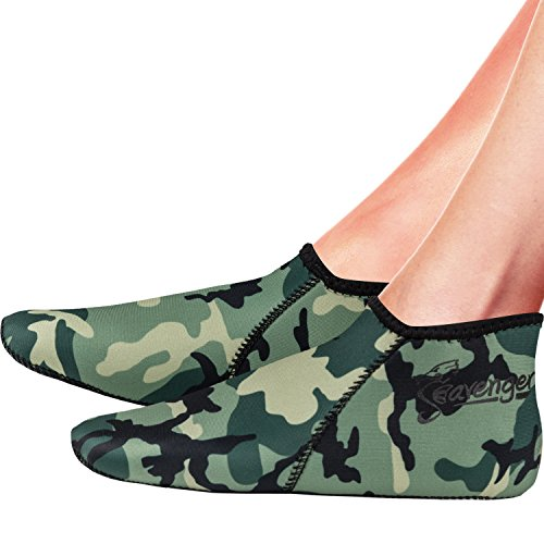 Seavenger Wetsuits Premium Neoprene Water Fin Sock 3mm Perfect for Water Sports, Snorkeling, Diving, Swimming, and Surfing (Camouflage, XL Men's (10.5-11)) (Wet Suit Xl compare prices)