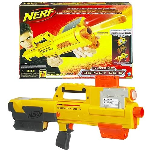 The Deploy gets its name because it can be put into flashlight mode and  with the push of a button it deploys into a pump action blaster.