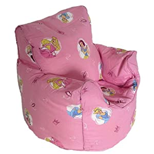 Disney Princess Pink Bean Bag Arm Chair Seat with Beans OFFICIAL PRODUCT