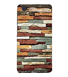 Bricks Pattern 3D Hard Polycarbonate Designer Back Case Cover for VIVO X5 PRO :: VIVO X5PRO