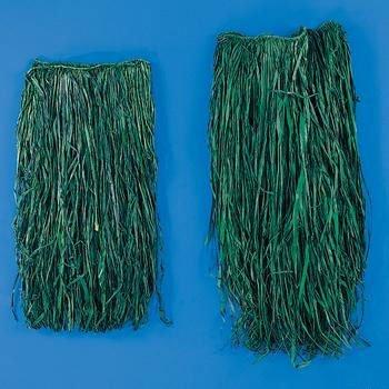 HulaSkirt Raffia Adult Green 1 pc