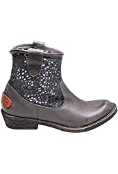 Women's Cowgirl Lace And Leather Booties