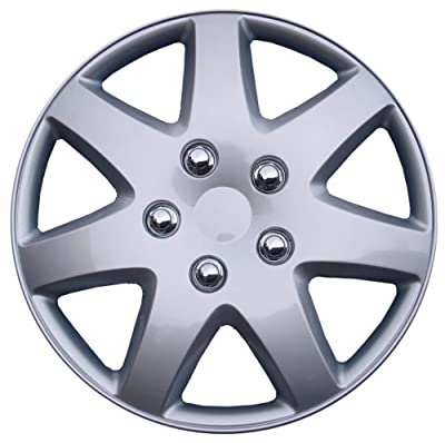 "Drive Accessories KT-962-16S/L, Toyota Paseo, 16"" Silver Replica Wheel Cover, (Set of 4)"