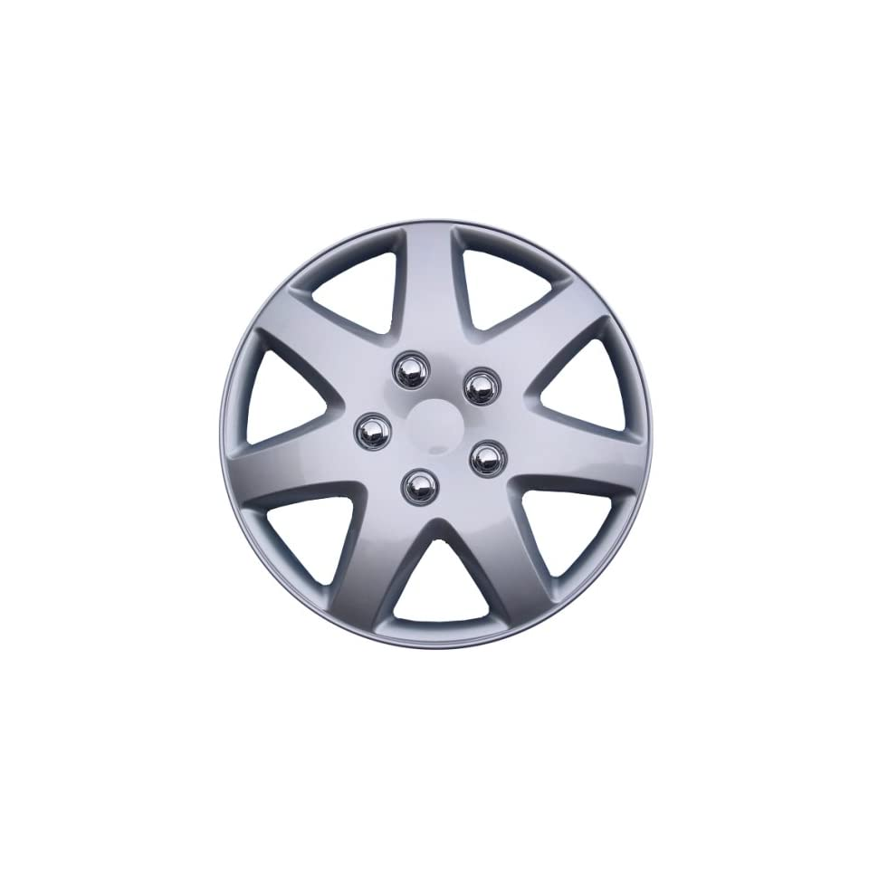 Drive Accessories KT 962 16S/L, Toyota Paseo, 16 Silver Replica Wheel Cover, Pack of 4