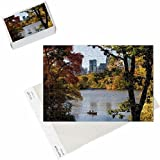 Photo Jigsaw Puzzle of USA, New York City, Manhattan, Central Park, The Lake in autumn