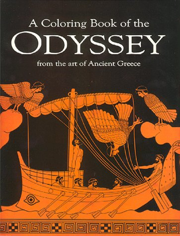 A Coloring book of the Odyssey from the art of Ancient Greece (Greek Edition)