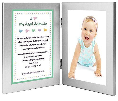 Gift for Uncle and Aunt - Sweet Poem From Niece or Nephew - 4x6 Frames - Add Photo - 1