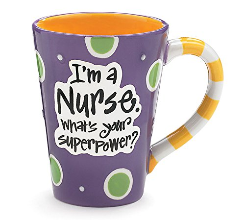 """Nurse 12 Oz Coffee Mug/Cup With """"I'M A Nurse"""" What'S Your Super Power?"""" Great Gift For Nurses"""