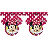 Unique Party 2.6 m Fashion Disney Minnie Mouse Bunting Flags (Red)