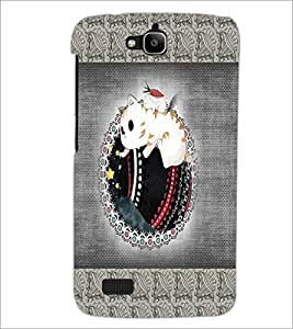 PrintDhaba Cartoon D-4072 Back Case Cover for HUAWEI HONOR HOLLY (Multi-Coloured)