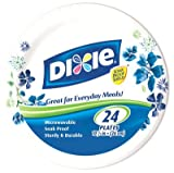 Dixie 10 1/16inches Plates, 24 Count
