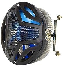VIVO Heatsink 120mm Fan CPU Cooler 3-Pin w/ Blue LED for Intel Socket up to 65W - LGA1150, LGA1155, LGA1156 for Desktop PC Computer (FAN-VI1B)