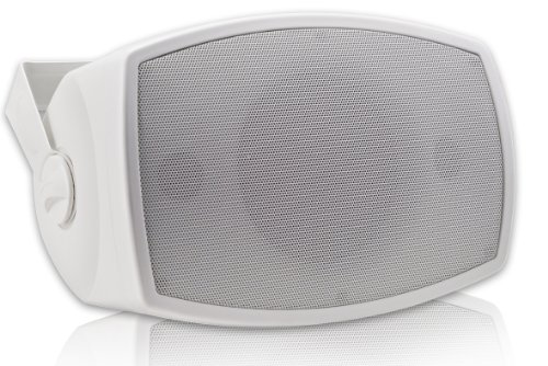 Osd Audio Ap550Tt White Stereo Dual Voice Coil 5.25-Inch Stereo Indoor Or Outdoor Patio Speaker, Single