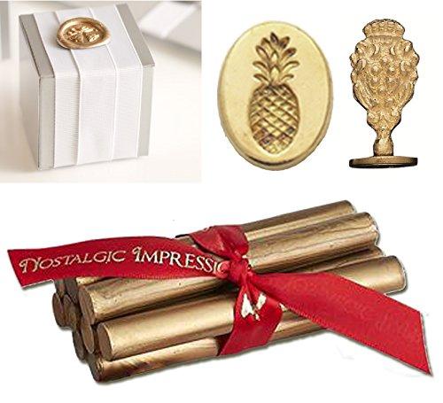 Wedding Wax Seal Kit-Gold Glue Gun Wax & Pineapple Stamp (Wax Seal Kit Gold compare prices)